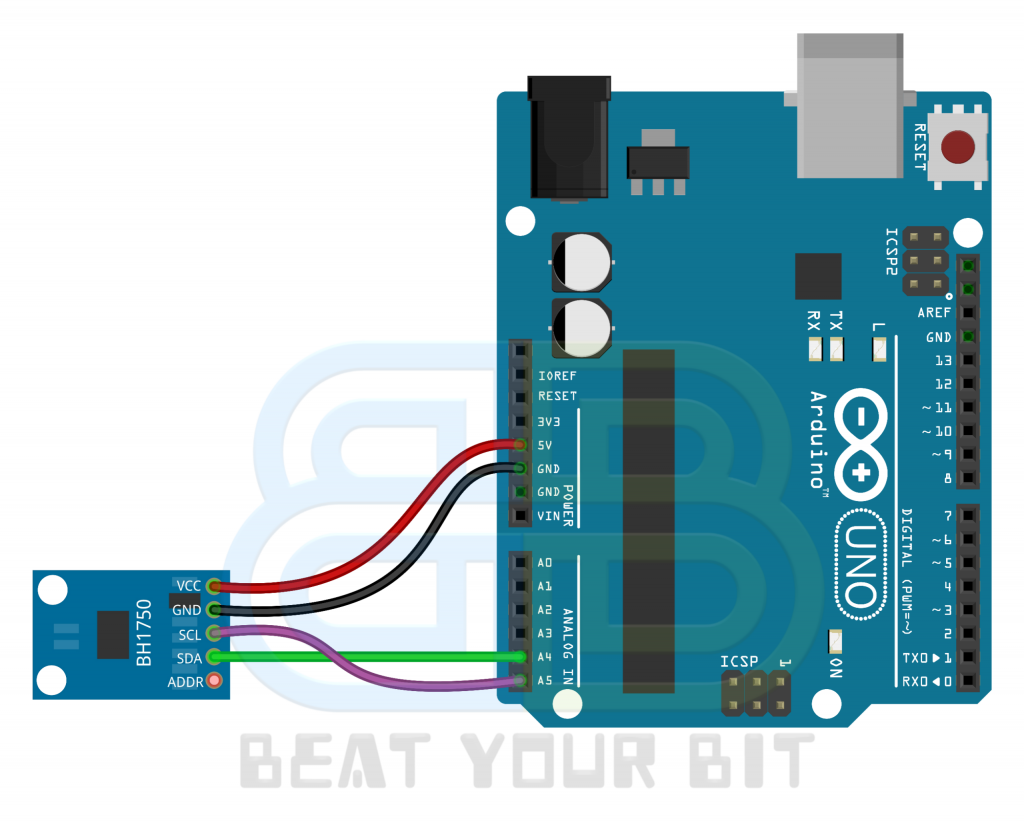 BH1750 interface with Arduino