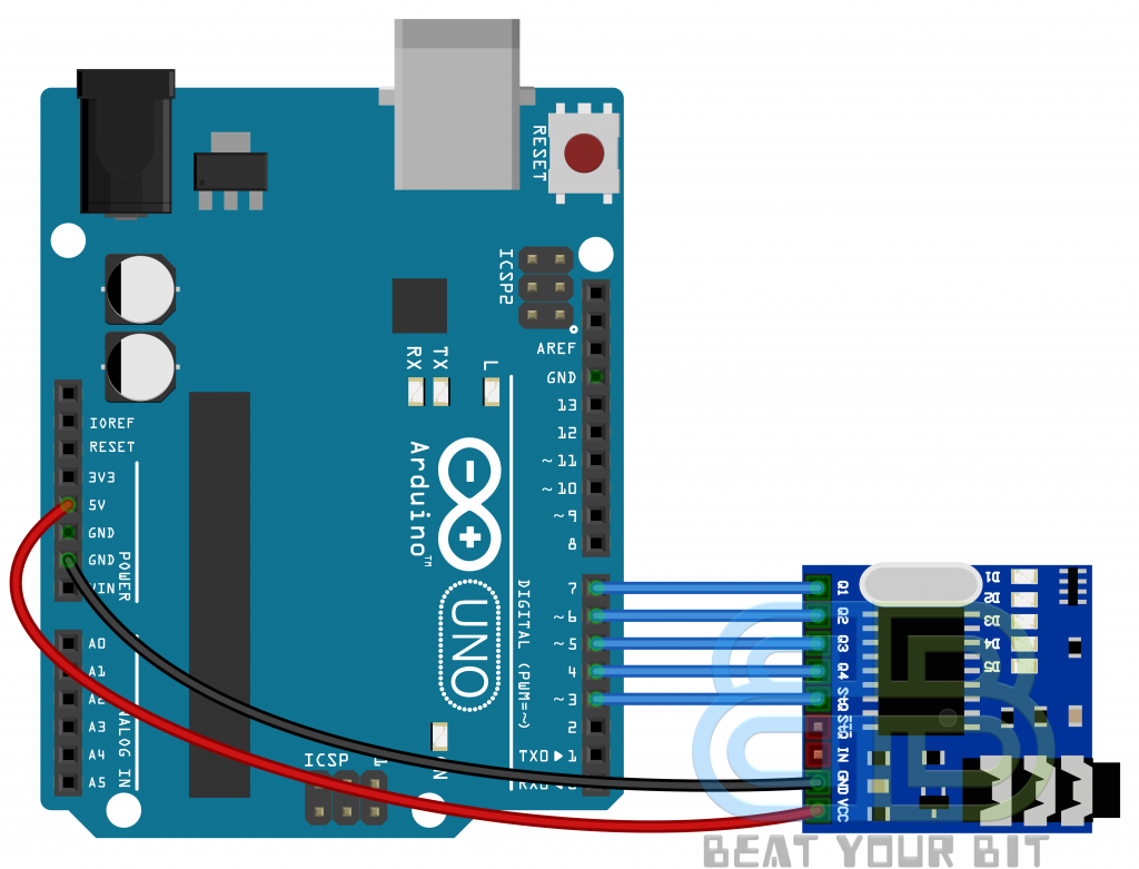 MT8870 Module interface with Arduino